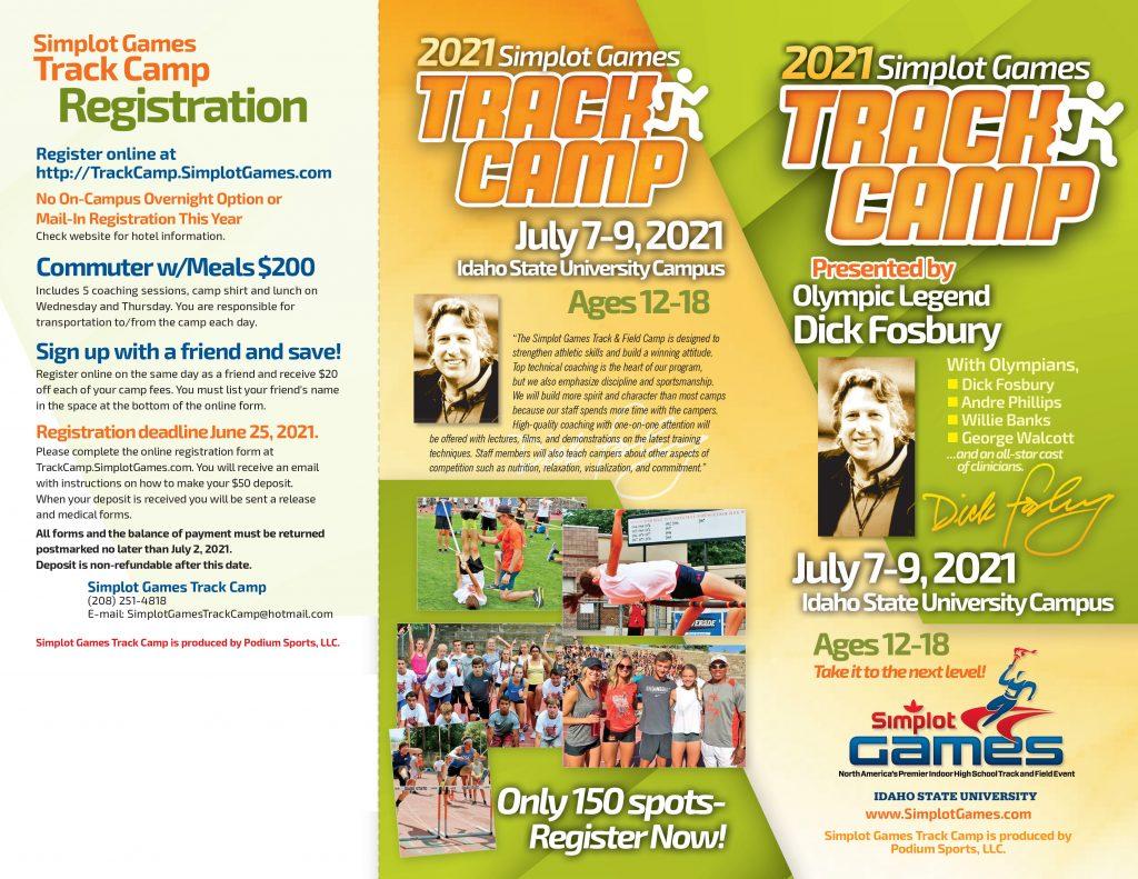 2021 Simplot Games Track Camp Brochure - Exterior