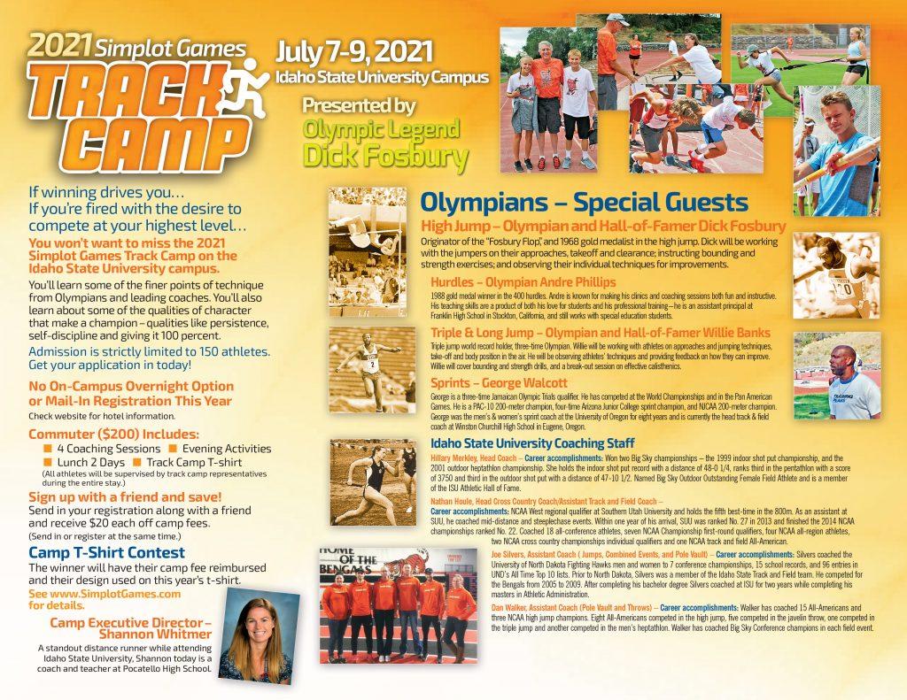 2021 Simplot Games Track Camp Brochure - Interior